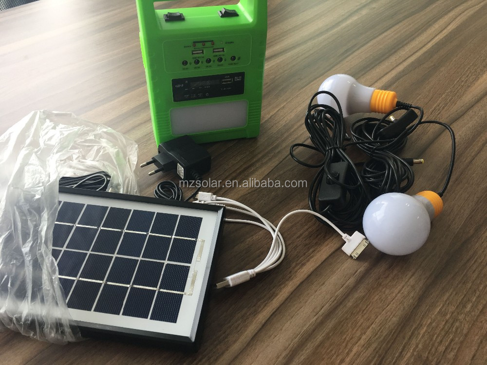 Multi-function portable solar lighting sysytem with USB charge and radio