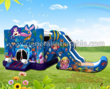 commercia use infatable Mermaid bouncer/jumping castle with slide