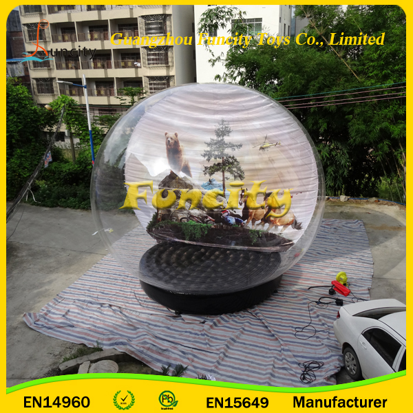 2016 hot sale inflatable Christmas products Gifts clear snow globe with factory price