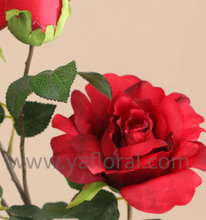 real looking artificial flower monthly rose made of silk
