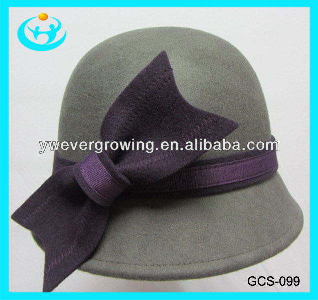 2013 high quality ladies fashion cloche hat Wholesale women wool felt hat australian bucket hat