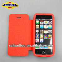 FOR iPhone5 stand leather case, full body leather case for iphone5