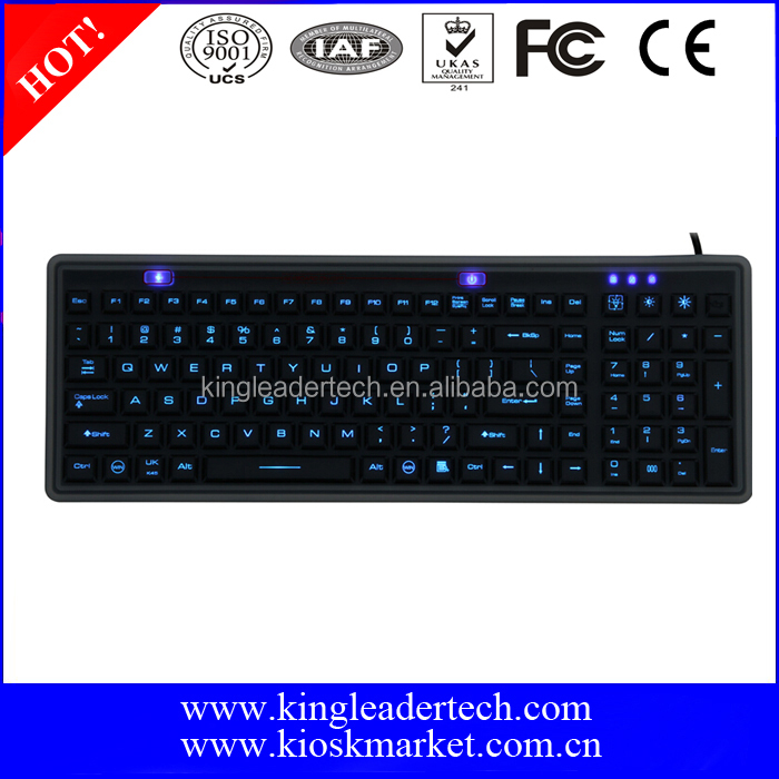 Backlit Washable Silicone Keyboard With Function Key