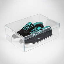 Wholesale acrylic Material Small Drop Front Shoe Box