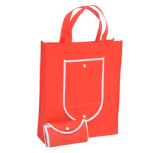 Basic design cheap reusable foldable non-woven shopping bag