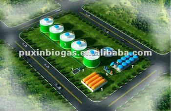 PUXIIN medium and large size biogas digester for power