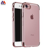 2017 trending products phone accessory electroplating transparent TPU cell phone case for iphone 7