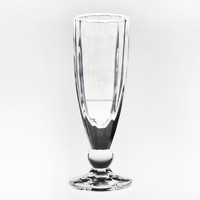 New! Blown Colored Dots Design Stem Glass Goblet For Martini And Champagne And Stemless Tumbler