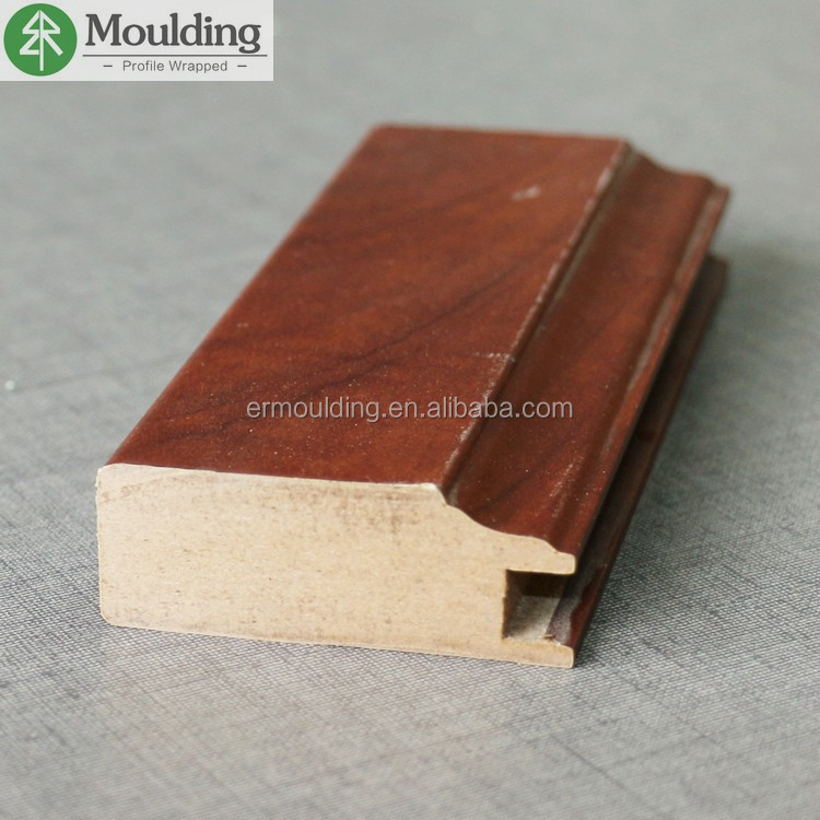 Decorative Waterproof PVC Profiled MDF Cabinet Moulding
