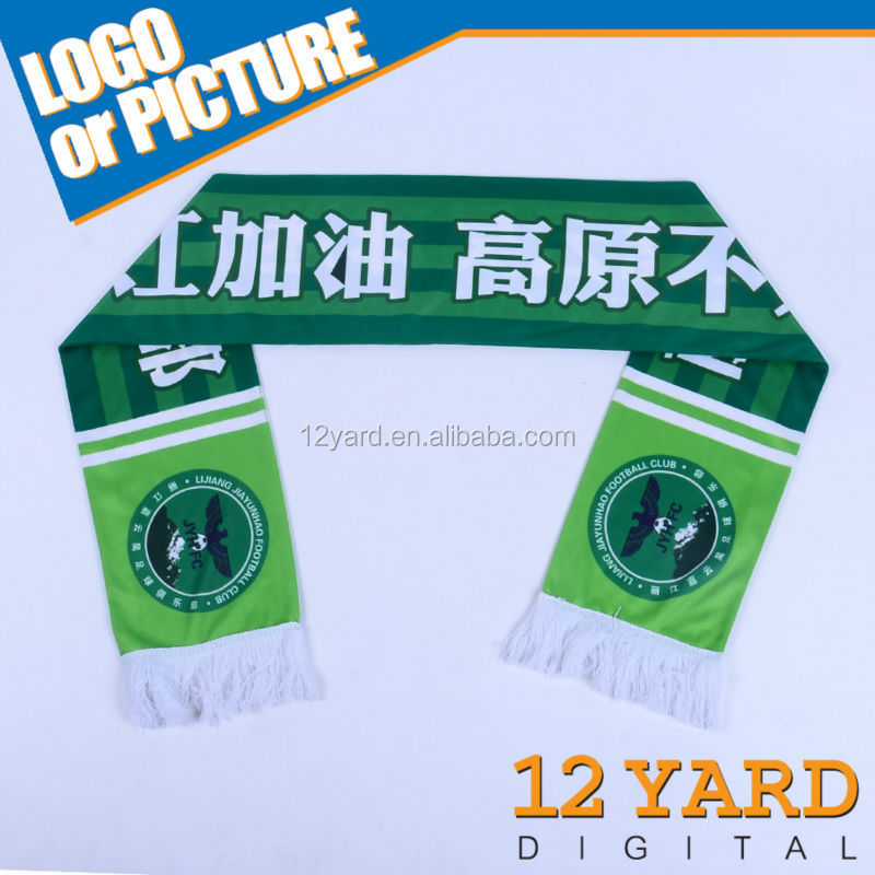 wholesale sublimation printed football shawl/basketball team polyester factory scarf