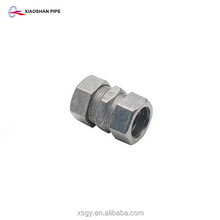 Zinc-coated compression type steel pipe connectors emt coupling