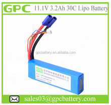 11.1v li-ion battery pack lipo battery 11.1v 30C 3200mAh 4000mAh