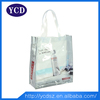 clear transparent reusable folding shopping bag