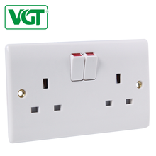 VGT Low power consumption Outdoor water proof 13 amp 2 gang switched socket