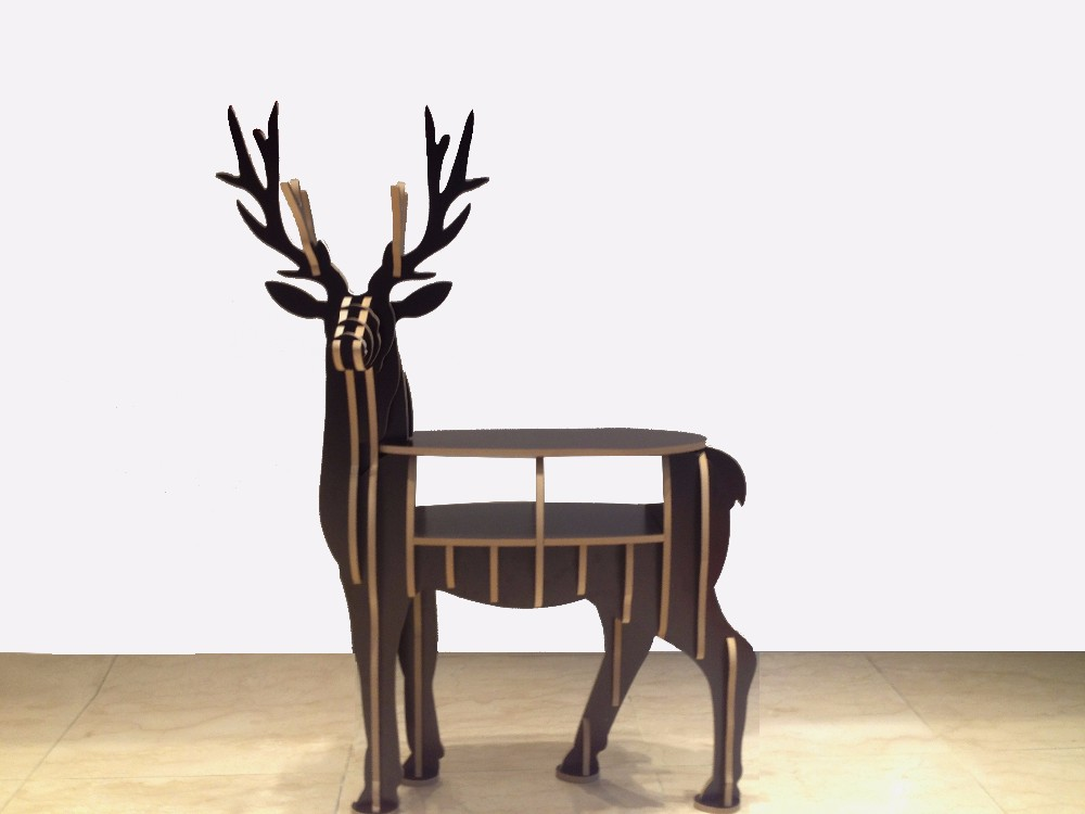 FSC Home decoration desk deer shape bookshelf