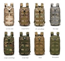 Hot sale wholesale multi color outdoor military camouflage climbing 3P tactical backpack