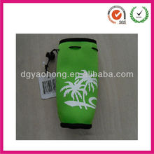 Green insulator gifts neoprene Coca-Cola bottle cooler hanging for kids (factory)