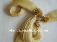 Fashion blonde color Russian human keratin hair extension I tip