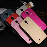 NEW motomo Hybrid Aluminum+plastic Metal Brush Case For samsung galaxy s4 mini I9190 Ultra Thin Hard Cover metal Case