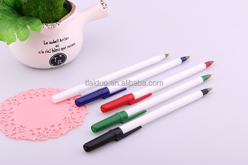 factory direct sale 2016 hot selling low minum order stationery bic ball pen with custom logo