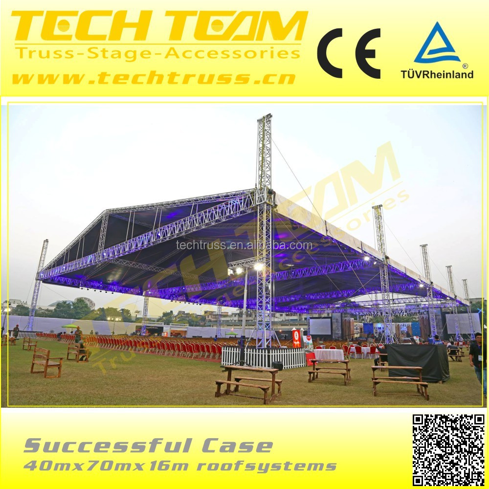 18*12*7.5M Stage Roof Truss System, outdoor performance aluminum stage truss/concert stage roof truss