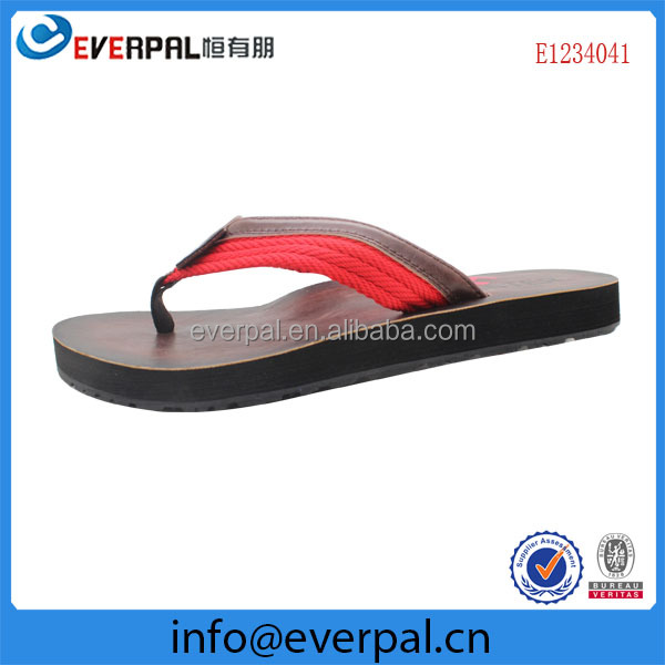Factory Good Quality Leather Chappals For Men