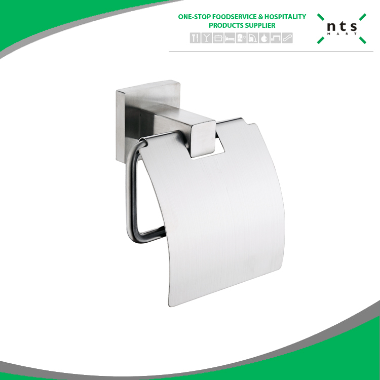 ss bathroom paper holder with lid