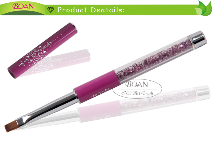 BQAN 2015 Acrylic Violet Metal Handle with Rhinestones Nail Beaut Flat Gel Brushes