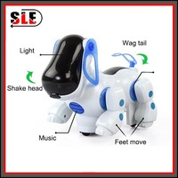Free Shipping Flashing Electronic Pet Toy Boys and Girs Kids Interactive Plastic Toy sounding Dog