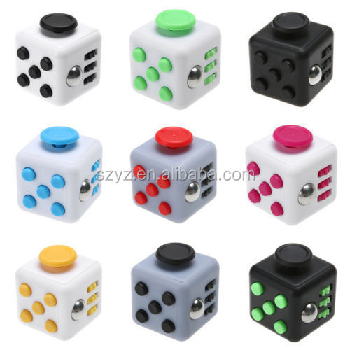 In stock newest stress release figet cube with different colors