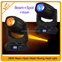 Hot!!!280w 10R Moving Head Beam+Spot+Wash 3in1 Stage Light,unlimited focus and zoom,prism position,frost function