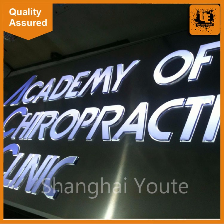 Factory price 3D led Channel backlit letter signs