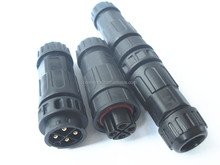 HOT SALES LLT M19 4 pins LED connector outdoor lighting waterproof wire connector