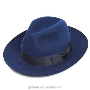 a12b4b4f563 Hot sell 100% wool felt fedora hats wholesale women with black bowknot