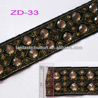 fashion design embroidered gold braid