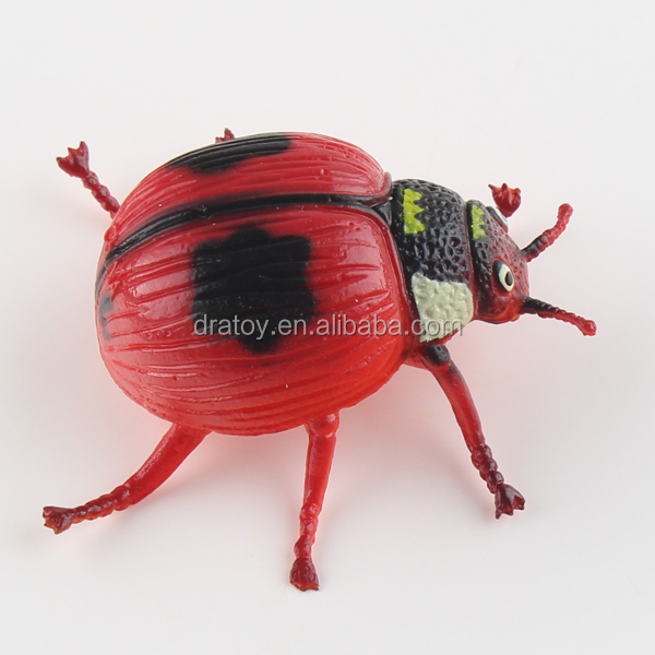 Pre-school education simulation insect Red Star beetle plastic toys