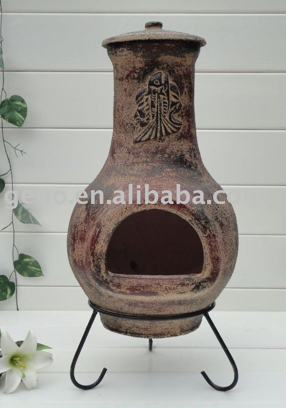 Best quality sun face clay chimineas