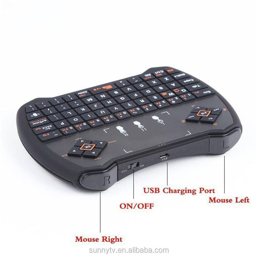 Hot Selling Smart Remote controller 2.4g wireless air mouse I9 fly mosue touchpad V6 Standard keybpard for android tv