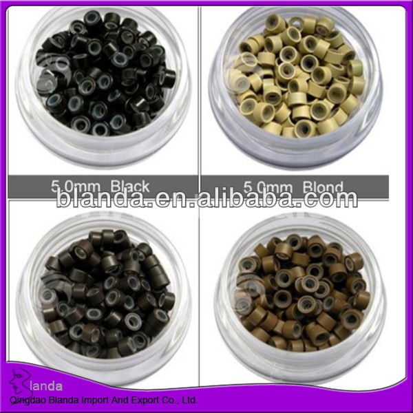 Silicone micro rings, cooper beads for hair extension
