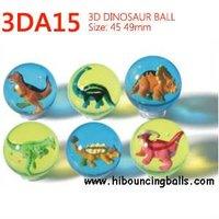 Rubber Bouncy Ball with Dinosaur inside