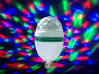 Disco light E27 mini 3W colorful rotating RGB LED bulb led magic bulb