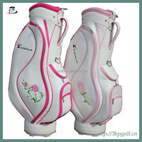 2014 new fashion custom design ladis red pink golf bags