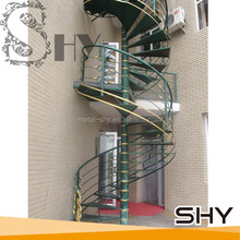 Outdoor Metal Railing Steel Spiral Stairs