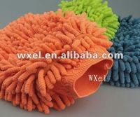 100% microfiber chenille car washing mitt