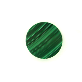 Naturel Vert malachite pierre dalle malachite plat rond