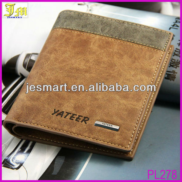 2015 New Stylish Men's PU Leather Wallet Pocket Card Clutch ID Credit Bifold Purse