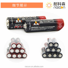 super heavy duty battery aa r6p 1.5v carbon zinc dry cell batteries aa