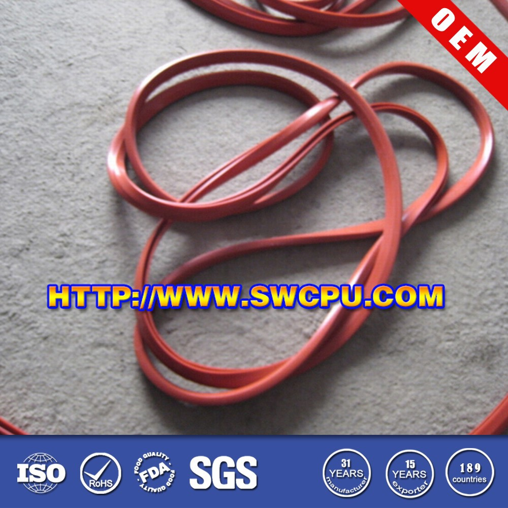 Custom colored flock lined window rubber seal strip