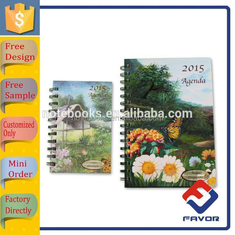 notebook manufacturer OEM orders hardcover cute spiral notebook whoesale for supplier