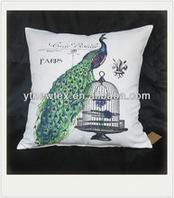 peacock print fabric cushion for rocking chair